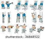 gymnastics | Shutterstock .eps vector #36868522