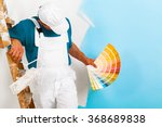 portrait of painter man with... | Shutterstock . vector #368689838