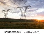 power lines high voltage with... | Shutterstock . vector #368692274