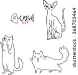 different breeds of cats  3 5  | Shutterstock .eps vector #368703464
