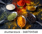 spices and herbs | Shutterstock . vector #368704568