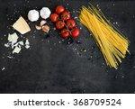 food frame. pasta ingredients.... | Shutterstock . vector #368709524