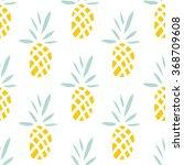 pineapples on the white...   Shutterstock .eps vector #368709608