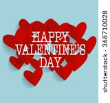valentine's day card with heart ... | Shutterstock .eps vector #368710028