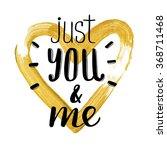 hand written  valentine day... | Shutterstock .eps vector #368711468