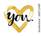 hand written  valentine day... | Shutterstock .eps vector #368711489