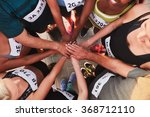high angle portrait of a sports ... | Shutterstock . vector #368712110