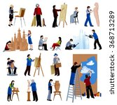 flat icons set of creative... | Shutterstock .eps vector #368713289