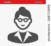 teacher icon. professional ... | Shutterstock .eps vector #368713898