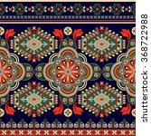 striped seamless ethnic pattern.... | Shutterstock .eps vector #368722988