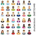 young people icon set | Shutterstock .eps vector #368731448