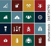 camping icons set. camping...