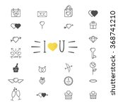 valentine's day icon symbols.... | Shutterstock .eps vector #368741210