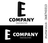 vector letter e logo. brand... | Shutterstock .eps vector #368743313
