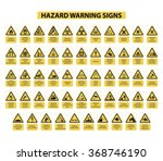 set of hazard warning signs on... | Shutterstock .eps vector #368746190