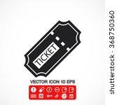 ticket vector icon | Shutterstock .eps vector #368750360