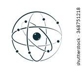 atom icon   vector illustration | Shutterstock .eps vector #368751218