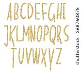 gold glitter sparkling alphabet.... | Shutterstock .eps vector #368760878