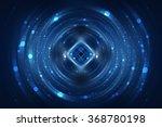 abstract fractal blue... | Shutterstock . vector #368780198