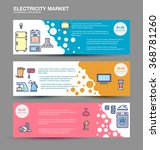 horizontal web banners with...