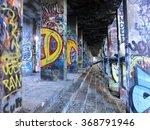 Painted Graffiti Posts Inside...