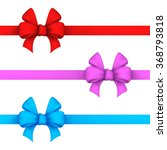 red  pink and blue gift bows....   Shutterstock .eps vector #368793818