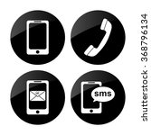 phone    vector icon  set | Shutterstock .eps vector #368796134
