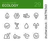 ecology vector outline icon set ... | Shutterstock .eps vector #368796563