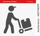 warehouse worker icon.... | Shutterstock .eps vector #368798099