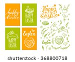 set of vector easter cards and... | Shutterstock .eps vector #368800718