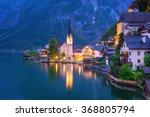 Hallstatt Village In Alps At...