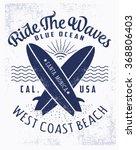 surf typography  t shirt... | Shutterstock .eps vector #368806403