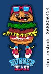 funny hamburger vector design | Shutterstock .eps vector #368806454