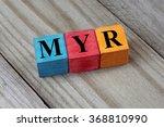 myr  malaysian ringgit  sign on ... | Shutterstock . vector #368810990