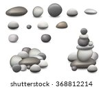 Set Of Pebbles And Natural...