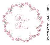 watercolor floral wreath ... | Shutterstock . vector #368824898