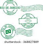 set of postal grunge stamps '... | Shutterstock .eps vector #368827889