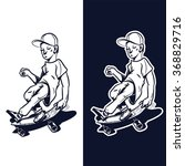 skater boy | Shutterstock .eps vector #368829716