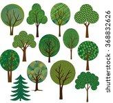 vector tree illustrations | Shutterstock .eps vector #368832626