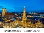 Night Panorama Of Marienplatz ...