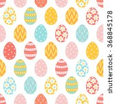 easter seamless pattern with... | Shutterstock .eps vector #368845178