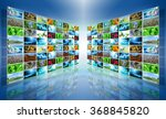 television and internet... | Shutterstock . vector #368845820