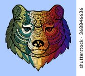 patterned bear's head in the... | Shutterstock .eps vector #368846636