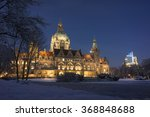 Stock photo hannover germany january hannover street view at winter evening lower saxony germany 368848688