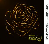 valentines day abstract rose... | Shutterstock .eps vector #368852306