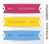 vector lines arrows infographic.... | Shutterstock .eps vector #368854964