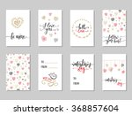 collection of  hand drawn... | Shutterstock .eps vector #368857604
