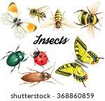 bright beautiful watercolor... | Shutterstock . vector #368860859