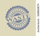 waste grunge stamp | Shutterstock .eps vector #368860874