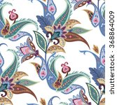 floral seamless paisley pattern.... | Shutterstock .eps vector #368864009